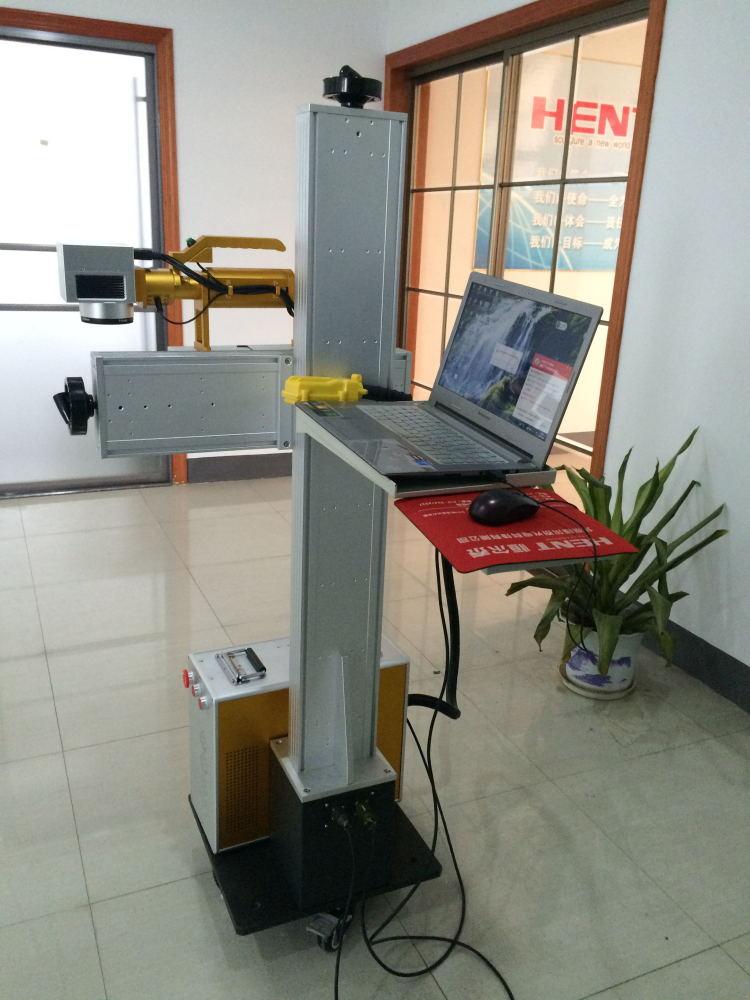 单立柱可旋转式光纤激光打标机
